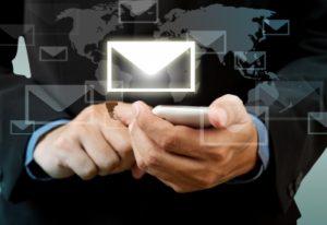 Man sending registered electronic communication