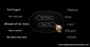 Blackboard depicting 5 misconceptions