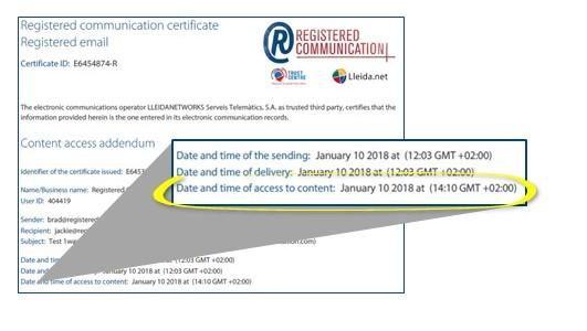 Certificate addendum example
